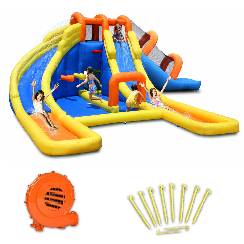 Aire de jeux gonflable happy air parco acquatico pas cher en vente sur stock - Structure gonflable happy hop ...