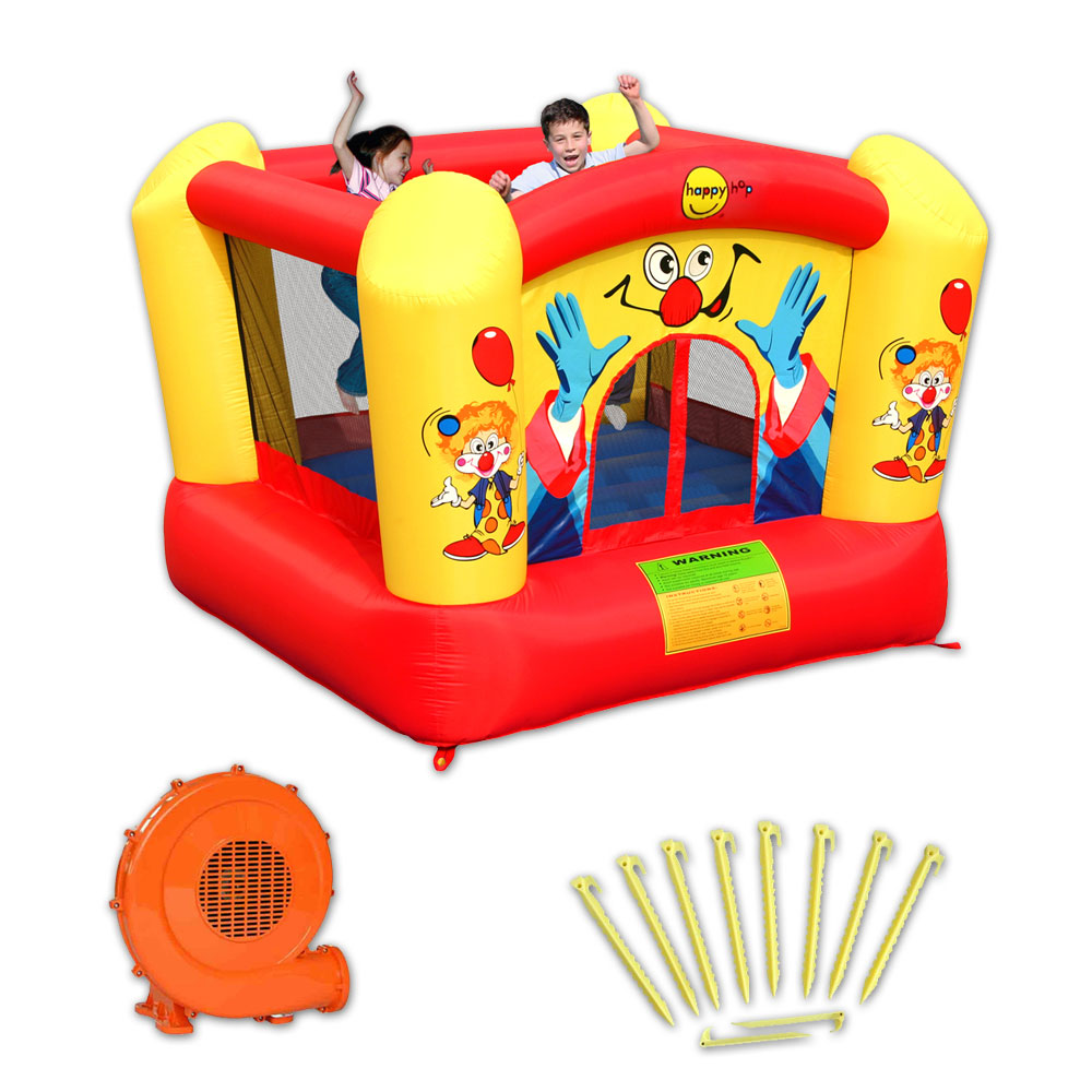 Chateau gonflable happy hop clown pas cher en vente sur stock - Structure gonflable happy hop ...